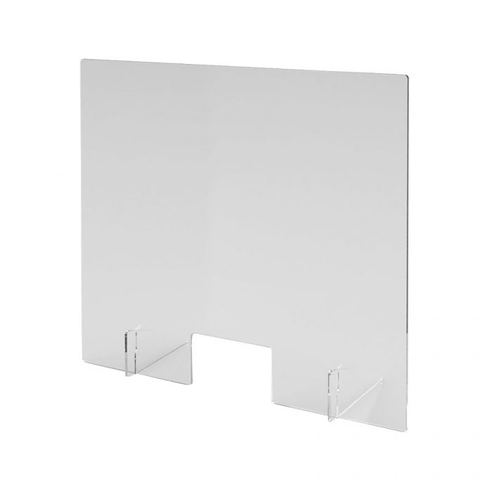 Spuckschutz aus transparentem Acrylglas 1.000 mm x 900 mm