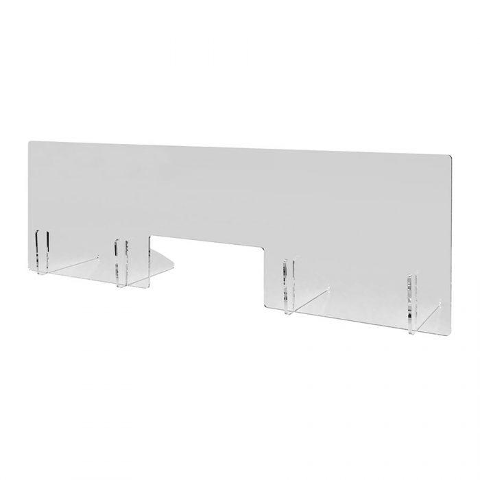 Spuckschutz aus transparentem Acrylglas 1.250 mm x 400 mm