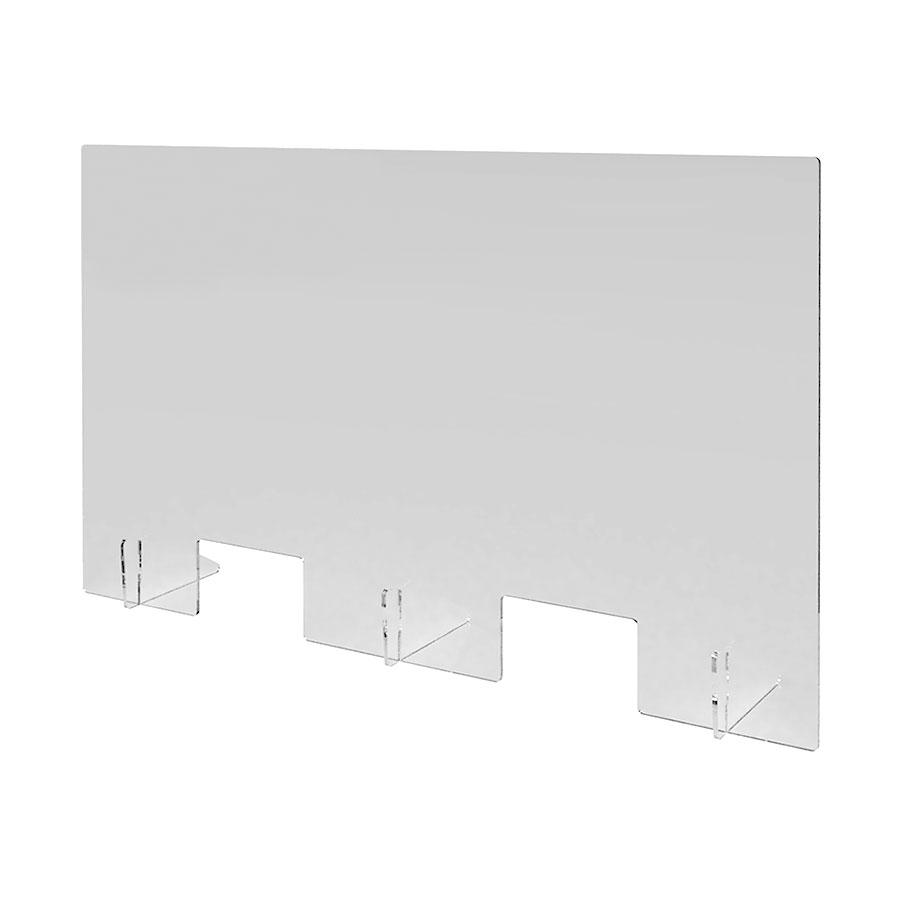 Niesschutz aus transparentem Acrylglas 1.500 mm x 800 mm