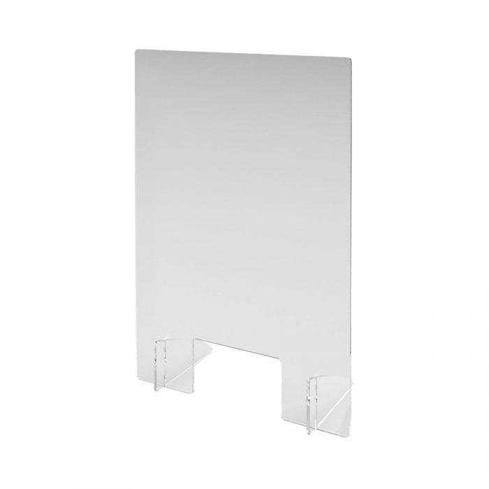 Hygienische Abtrennung aus transparentem Acrylglas 600 mm x 900 mm