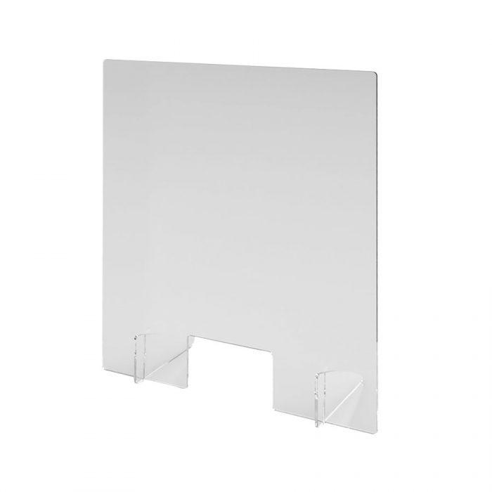 Spuckschutz aus transparentem Acrylglas 800 mm x 900 mm