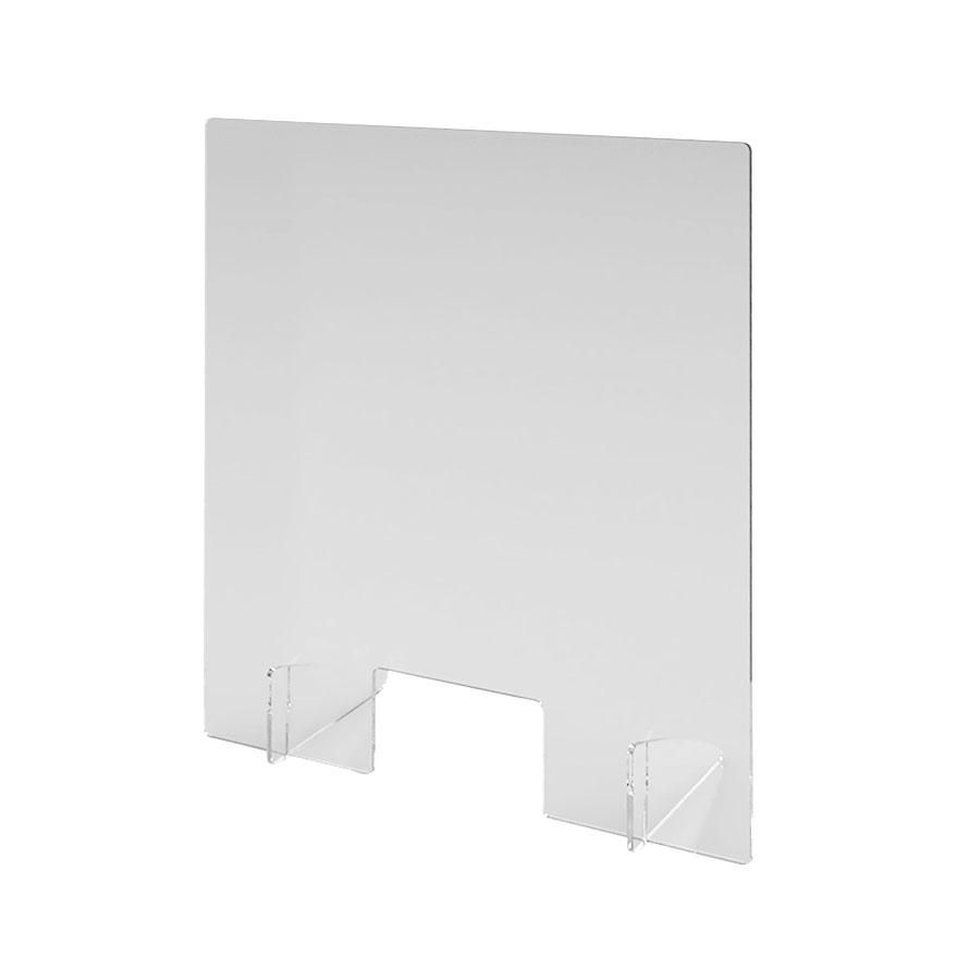 Niesschutz aus transparentem Acrylglas 800 mm x 900 mm